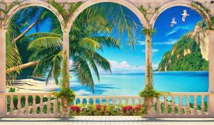 Tropical View - Mural