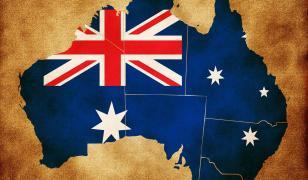 australia map wallpaper