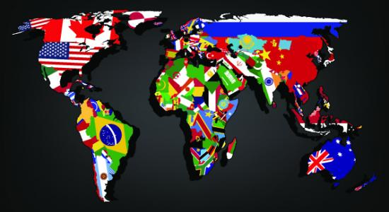 Customised murals world map flags mural gumiabroncs Image collections
